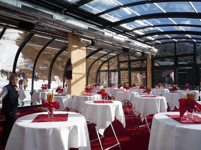 Gastronomie Überdachung als Terrassendach für Restaurant